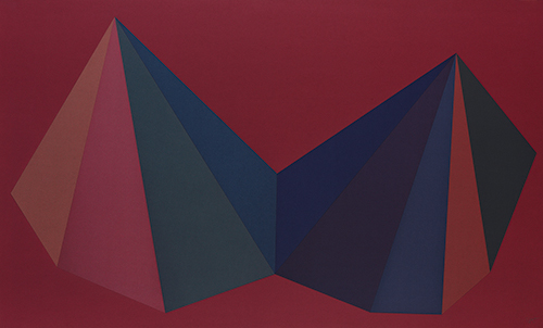 Two Asymmetrical Pyramids: Plate 1 by Sol LeWitt at Sims Reed Gallery (IFPDA)