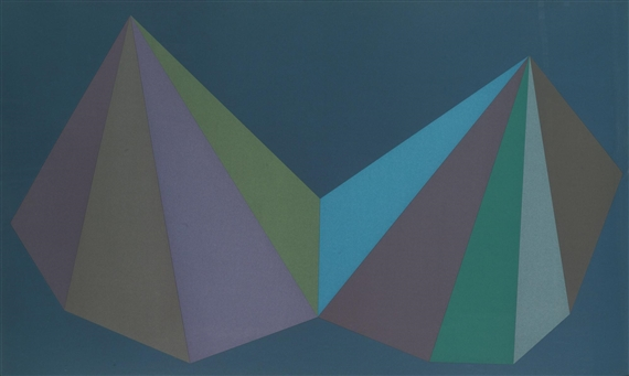 Two Asymmetrical Pyramids: Plate 3 by Sol LeWitt at Sims Reed Gallery (IFPDA)