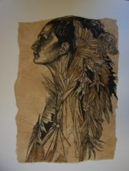 Ice Maiden by Swoon at Brandler Galleries