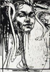 Medusa by Swoon at Brandler Galleries