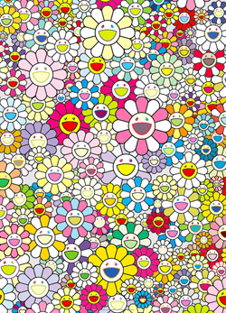 An Homage To Yves Klein Multicolor A by Takashi Murakami