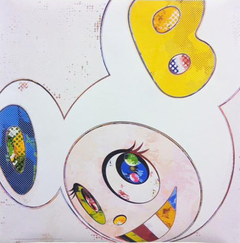 And Then X 6 – White With Blue And Yellow Ears by Takashi Murakami