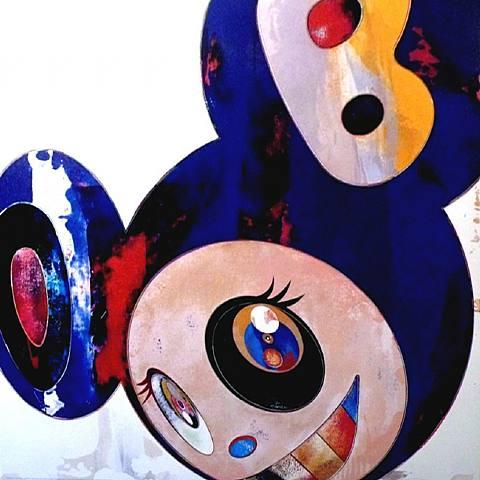 And Then Hello Blue by Takashi Murakami