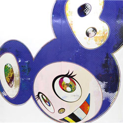 And Then X 6 Blue by Takashi Murakami at