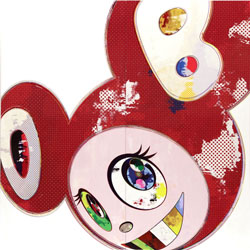 And Then X 6 Red by Takashi Murakami at