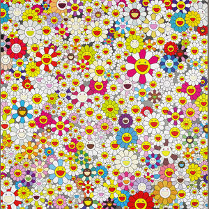Field Of Smiling Flowers by Takashi Murakami at Lieberman Gallery