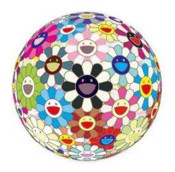 Flowerball (3-d) Blood by Takashi Murakami at Lieberman Gallery