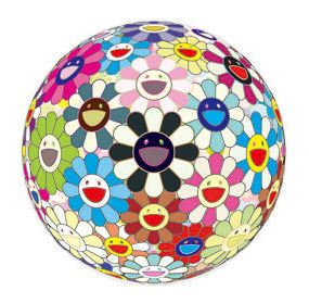 Flowerball (3-d) Blood by Takashi Murakami at Lieberman Gallery