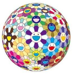 Flowerball (3-d) Kindergarten by Takashi Murakami at Lieberman Gallery