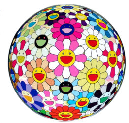 Flowerball Pink by Takashi Murakami at Vogtle Contemporary