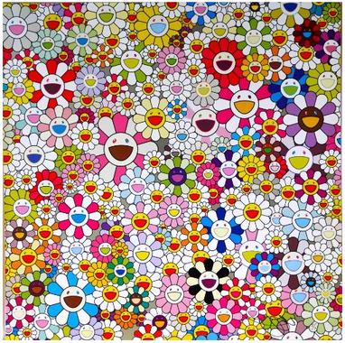 Flowers Blossoming In This World And The Land Of N by Takashi Murakami