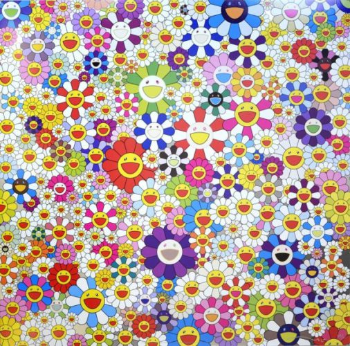 If I Could Reach That Field Of Flowers, I Would Di by Takashi Murakami