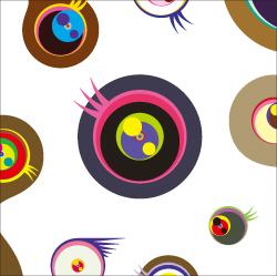 Jellyfish Eyes White 1 by Takashi Murakami at Vogtle Contemporary