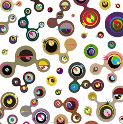 Jellyfish Eyes White 4 by Takashi Murakami at
