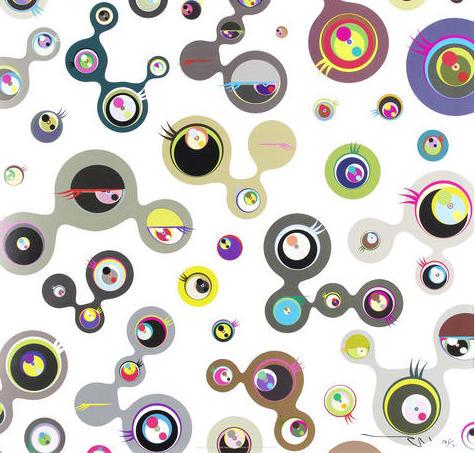 Jellyfish Eyes – White 4 by Takashi Murakami