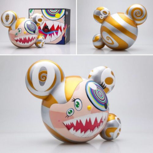 Mr Dob Figure By Bait X Switch Collectibles – Gold by Takashi Murakami
