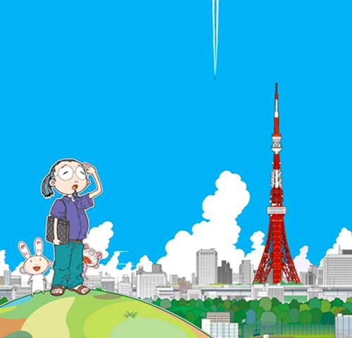 Tokyo Tower by Takashi Murakami