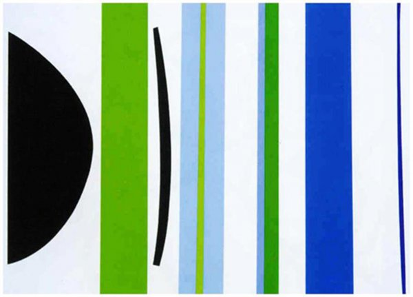 Blue Green Verticals by Terry Frost