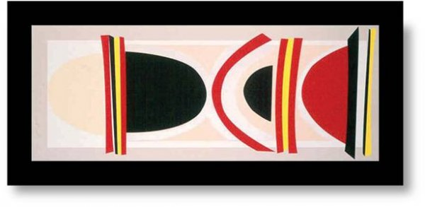 Long Red, Yellow And Black by Terry Frost at