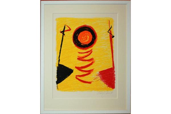 Orange Sun Newlyn by Terry Frost