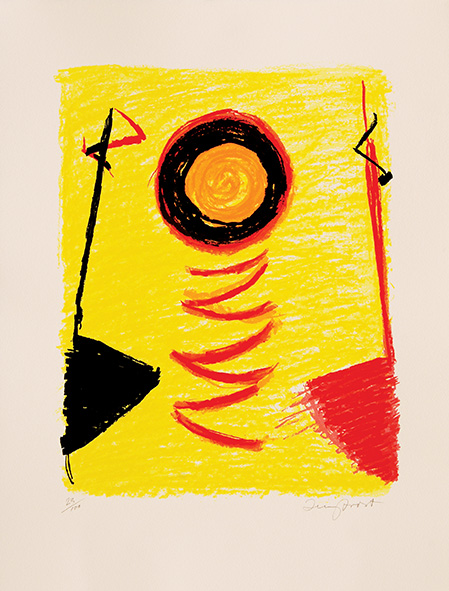 Orange Sun Newlyn. by Terry Frost