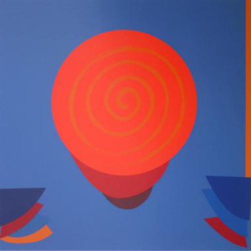 Orange And Blue Space by Terry Frost at