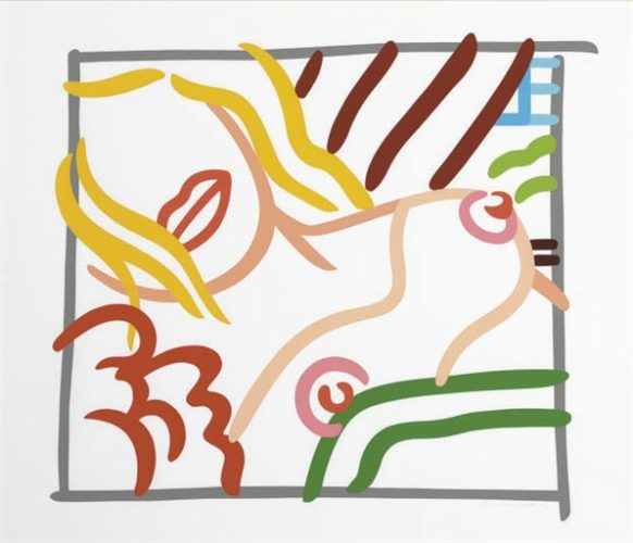 Bedroom Blonde Doodle by Tom Wesselmann