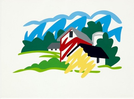 House And Barn In Distance, 1991 by Tom Wesselmann