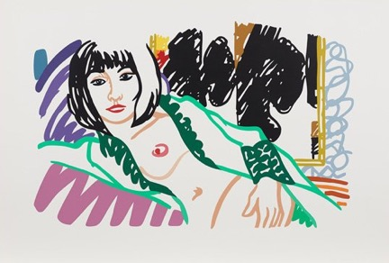 Monica In Robe With Motherwell, 1994 by Tom Wesselmann