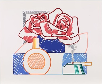 Scribble Version Of Still Life #58, 1992 by Tom Wesselmann