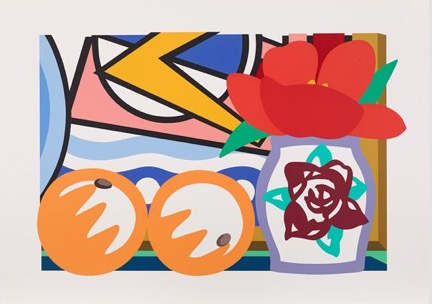 Still Life With Lichtenstein And Two Oranges, 1993 by Tom Wesselmann