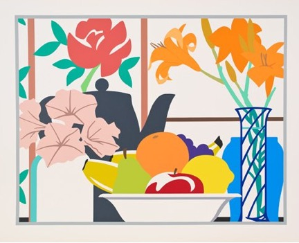 Still Life With Lilies, Petunias And Fruit, 1988 by Tom Wesselmann