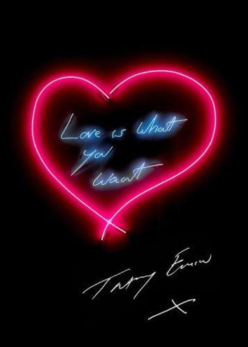 Love Is What You Want by Tracey Emin at Lougher Contemporary