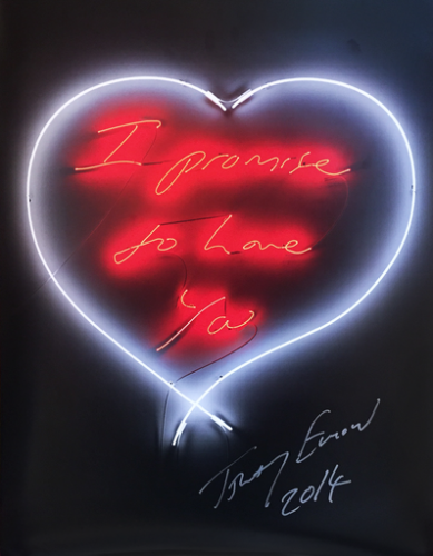 I Promise To Love You by Tracey Emin at Lieberman Gallery
