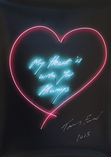 My Heart Is With You Always by Tracey Emin RA