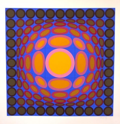 Tri-vega by Victor Vasarely at