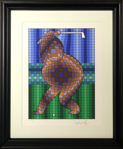 Golfer by Victor Vasarely at