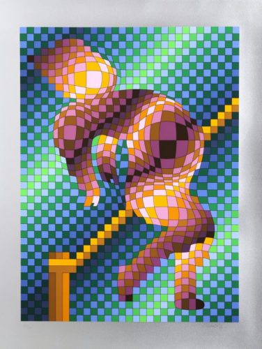 Harlequin Sportif by Victor Vasarely at