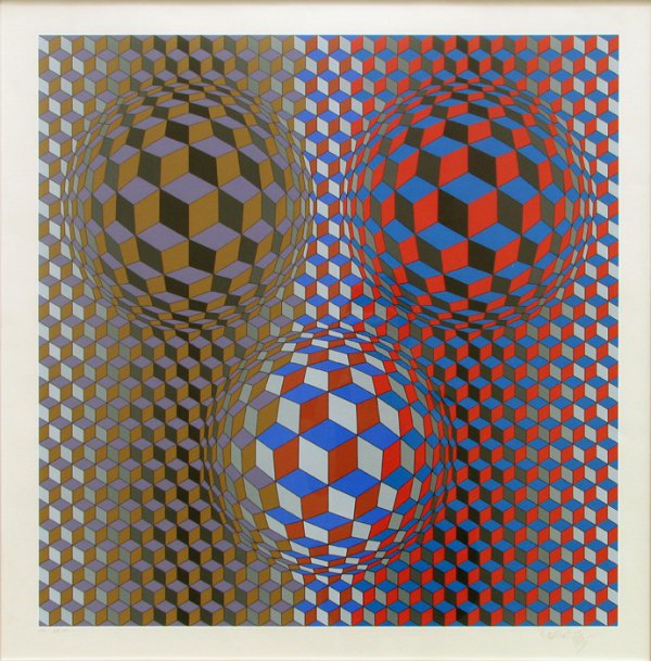 Nebulus Ii by Victor Vasarely
