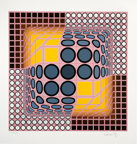 Pink Composition by Victor Vasarely at