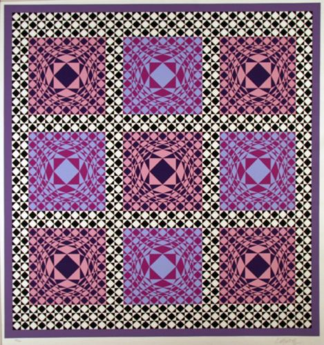 Purple Squares by Victor Vasarely at