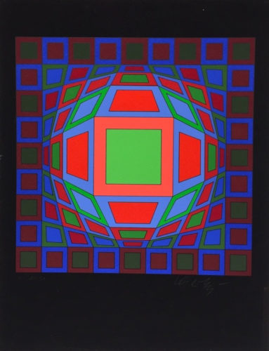 Untitled #4 by Victor Vasarely at Victor Vasarely