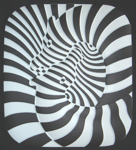 Zebra Ceramique by Victor Vasarely at