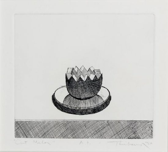 Cut Melon by Wayne Thiebaud