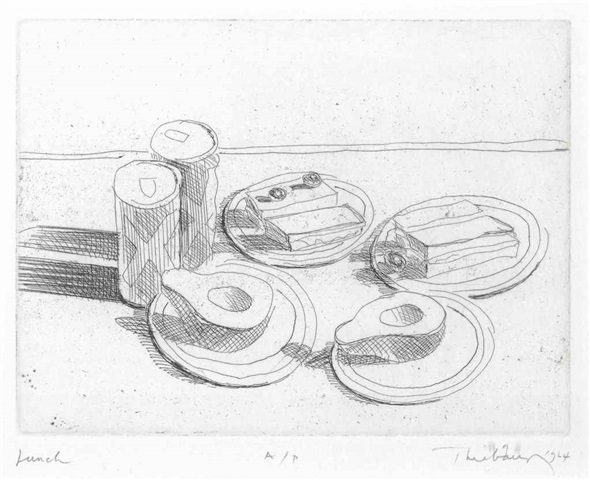 Lunch by Wayne Thiebaud