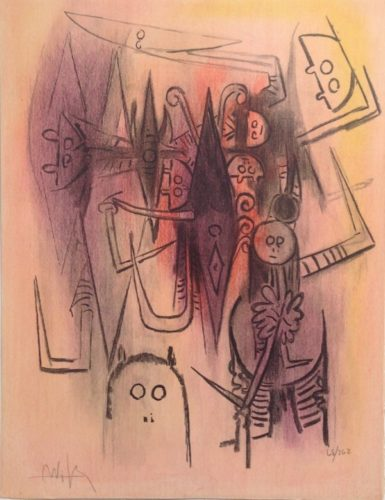 Clairiere, From Pleni Luna by Wifredo Lam at