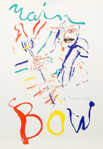 Rainbow: Thelonius Monk, Devil At The Keyboard by Willem De Kooning at