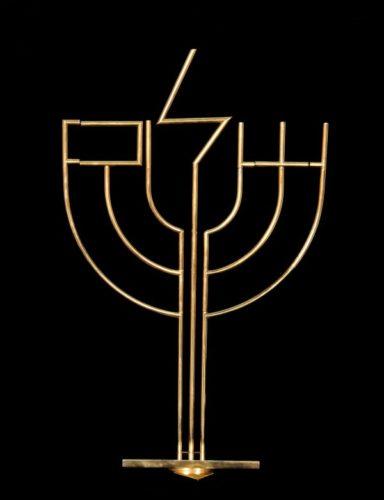 Shalom Menorah by Yaacov Agam