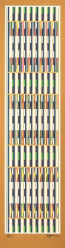 Vertical Orchestration ; Gold Series by Yaacov Agam