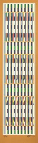 Vertical Orchestration ; Gold Series by Yaacov Agam at Yaacov Agam